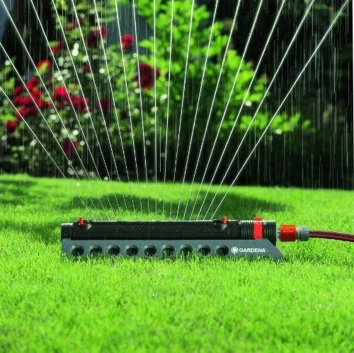 Fabulous Oscillating Sprinkler Watering Lawn Garden Water Yard Flow Adjustable Soil Care Gardena