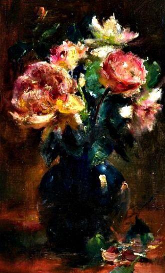 Frans Mortelmans Roses 19th century