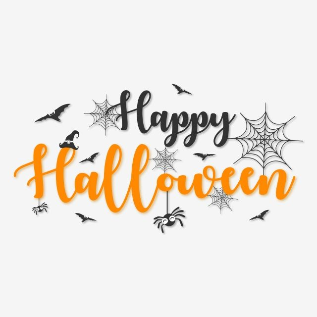 Happy Halloween Lettering Typography With Halloween Elements Word Clipart Typography Treats Png And Vector With Transparent Background For Free Download Halloween Typography Halloween Chalkboard Halloween Design