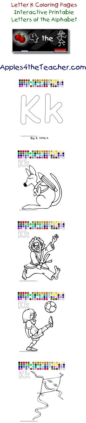 apples4theteacher com coloring pages - 40 best images about letter kk on pinterest letter k