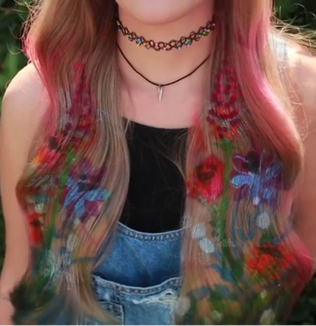I mean, I've always been about a graffiti mural but stenciling on hair?!? TOO COOL. | You Need This Graffiti Hair Trend In Your Life Right Now