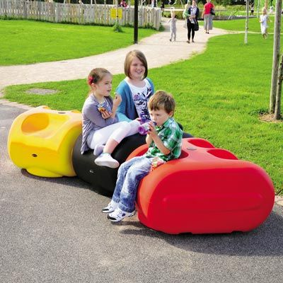 Made from robust, impact-resistant Durapol® Material, Treblo™ Seats are suitable for indoor or outdoor use and can be stacked for storage when not required. Non-marking PVC feet are fitted as standard and an optional ground fixing kit is also available. #ChildrensSeat #Seat #RecycledMaterial #GlasdonUK