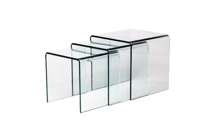 Table Gigogne En Verre Trempé Design 12MM