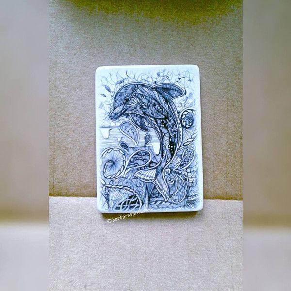 Calamite per il frigo - calamita da collezione stampa delfino doodleart - un prodotto unico di barbarasanti su DaWanda