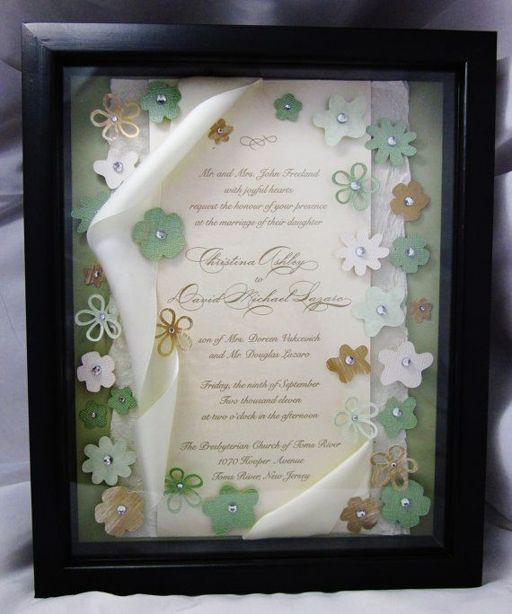 Wedding Invitation Keepsake Art    Shadow by ForeverCherishDesign, $50.00