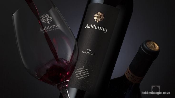Wine Photography for Marketing and Advertising: Aaldering Pinotage. www.bakkesimages.co.za