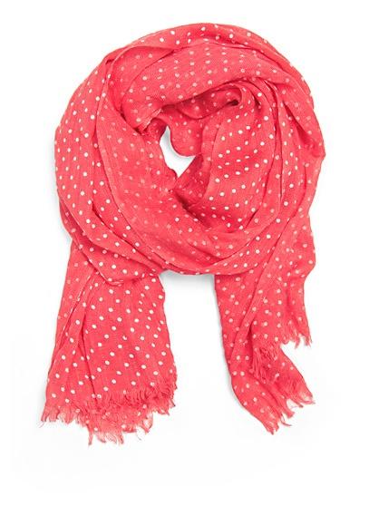 polkadot scarf in coral