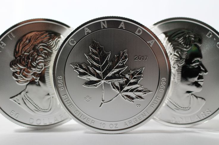 NEW PRODUCT ALERT! The Magnificent Maple! The Canadian Maple Leaf one of the world's most popular #silver bullion coins is now available in a striking 10 oz silver bullion coin.