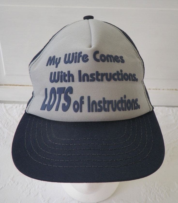 3bc35569ca8 ... buy husqvarna factory curved bill hat mesh snapback trucker hat cap my  wife comes with lots