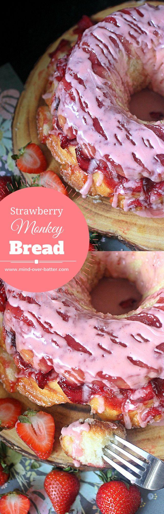Strawberry Monkey Bread -- www.mind-over-batter.co…