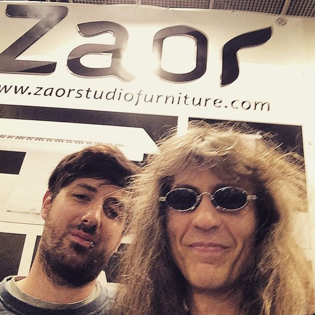 I started a great new cooperation with #zaor studio furniture and ordered 3 idesks for my post production studio. This is Gilles Bartholme of ZAOR and me at the #musikmesse #frankfurt 2015
