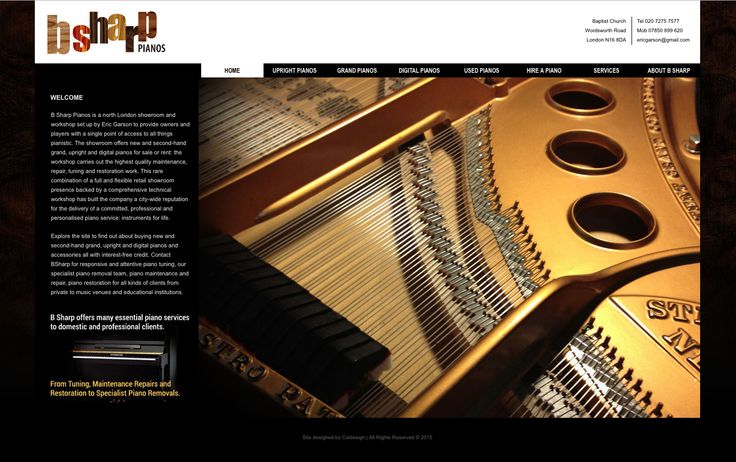 Coldesign is proud to announce the new look website for B Sharp Pianos. You can visit the website at www.bsharppianos.co.uk