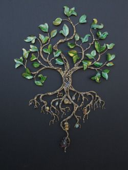 we have one of Julie's trees, my favorite piece of art. I think a simple line drawing might be a nice. tree of life symbolism is a favorite