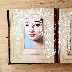 Elise Wehle - sketchbook  Adventures with Altered Books   Heather Teran Blog