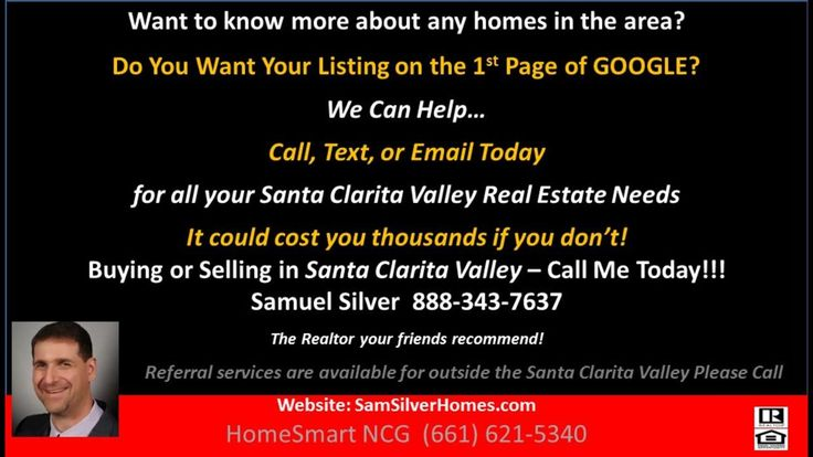 Want to see your Home Rank higher in Google?  Call and Text Sam (661)621-5340 for info!  https://gp1pro.com/USA/CA/CA/Santa_Clarita/west_hills/28361_Constellation_Road.html  Want to see your Home Rank higher in Google?  Call Sam (661)621-5340 to find out how! Samuel Silver of HomeSmart Real Estate (661)418-REAL (7325)  is the Most qualified realtor agent in Santa Clarita and Valencia- Its not the same everywhere so you need someone you can trust for up-to-date information. I am eager to…