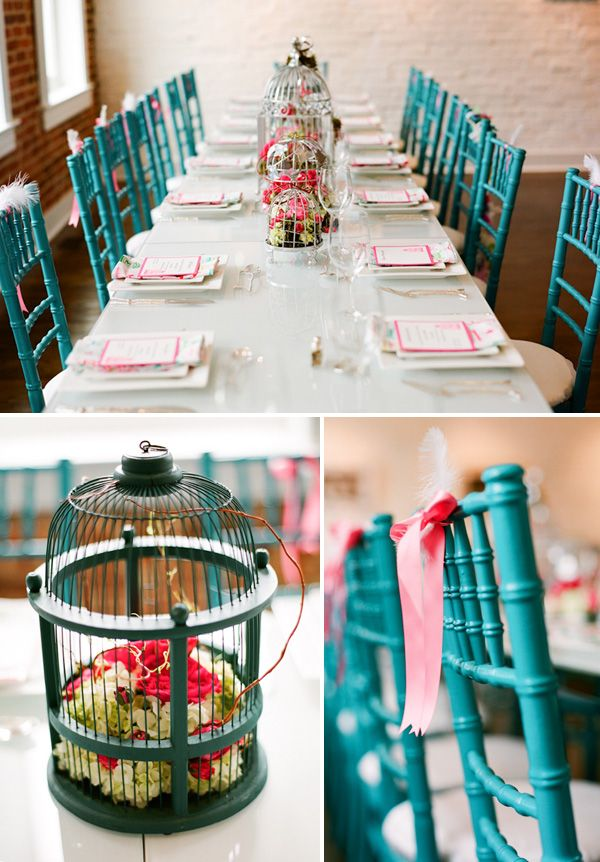 gorgeous: Shower Ideas, Tables Sets, Chairs, Birdcages, Baby Shower Decor, Bridal Shower, Feathers, Birds Cage, Baby Shower