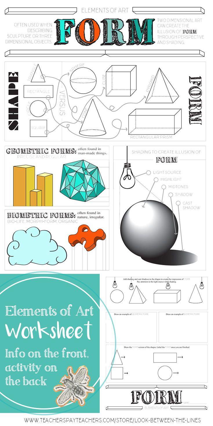 art form examples Element of Art, Form: Middle School Visual Art, High School Visual