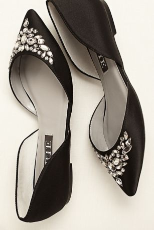 nike free flyknit 4 0 womens white White by Vera Wang Jeweled Satin D  39 Orsay Flats at David  39 s Bridal