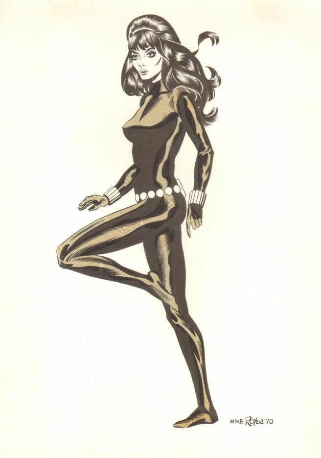 Black Widow Commission - 1970 Signed art by Mike Royer | eBay