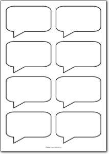 8 Blank Square Speech Bubbles Free Printables Free