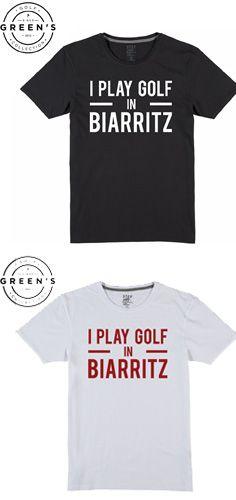 """T-shirt """"I play golf in Biarritz"""" disponibles en différents coloris."""