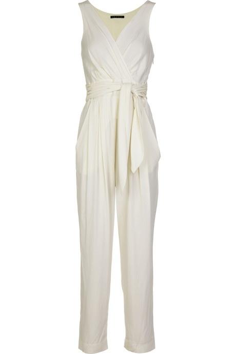 white jumpsuit,waist belt