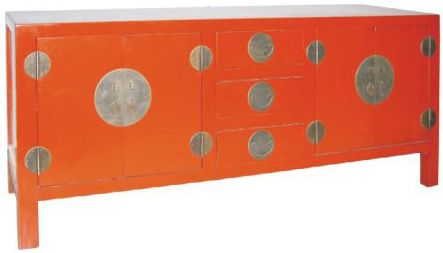 Chinees dressoir 160 cm. Direct uit voorraad leverbaar in de kleuren zwart, wit en rood. www.happy-home.nl  Oosterse meubelen, chinese meubels, chinese meubelen