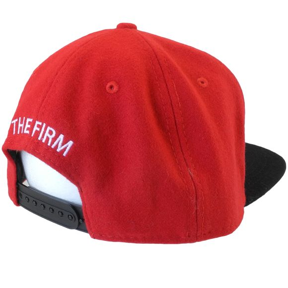 The Firm Hawaii AMF Wool Red/Black Snapback back shot