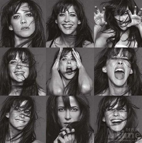 Sophie Marceau....I love photo montages...and wish to be always laughing & silly like this montage -Mari