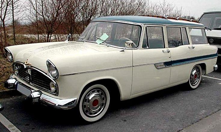 La Simca Vedette Break Marly, cette automobile utilitaire de collection fut construite de 1956 à 1963, la Simca Vedette de 1956 mesure 1.75 ...