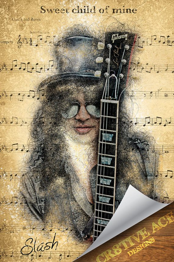 Slash Poster Digital Illustration Slash Poster by Cr8tiveACE