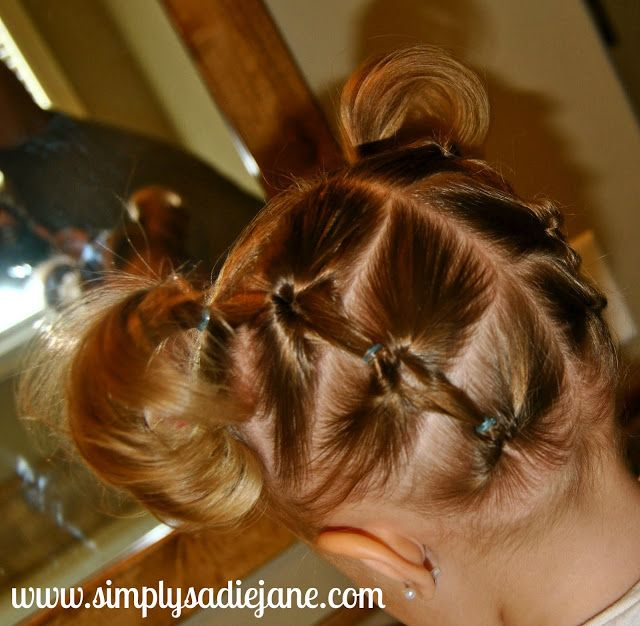 Wow! Toddler hairstyles. Adorable.