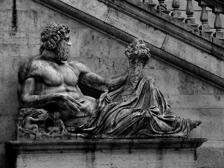 Fontana della dea Roma - Il Tevere   da Vitto P.