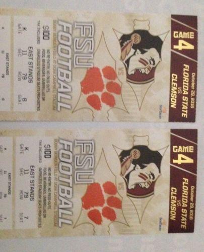 #tickets FSU Vs Clemson Tickets please retweet
