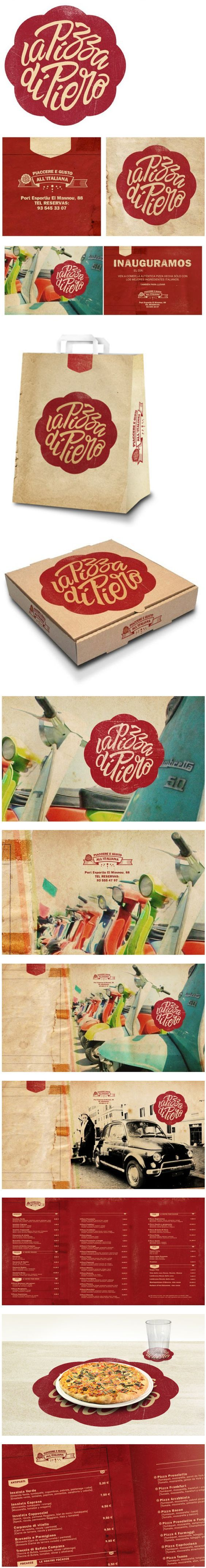 La Pizza de Piero branding by Alex Ramon: