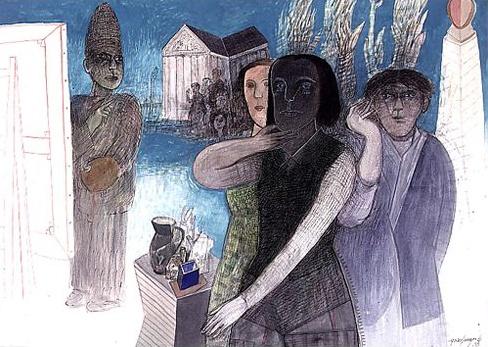 1999 – Tinta y gouashe sobre papel, Gonzalo Cienfuegos