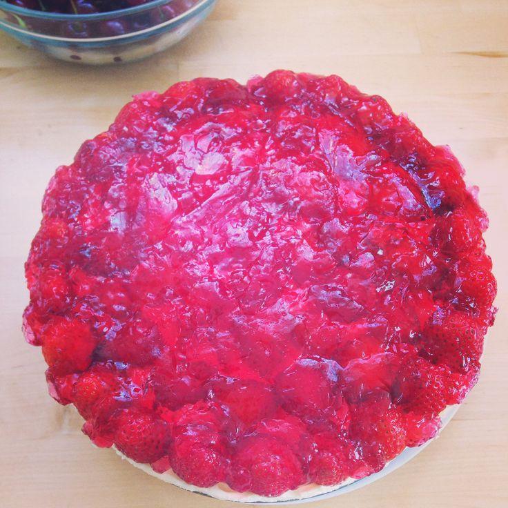 Strawberries and cream sponge cake! home baking ...