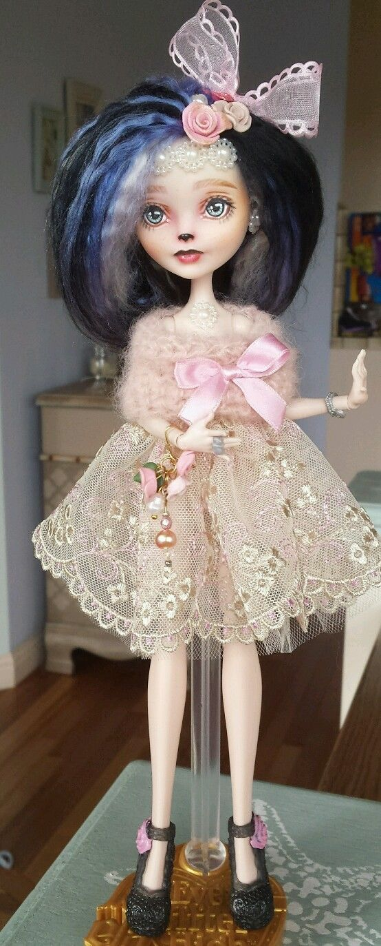 OOAK Repainted Rerooted and Customized Ever After Doll by Sabina Dichterman   eBay