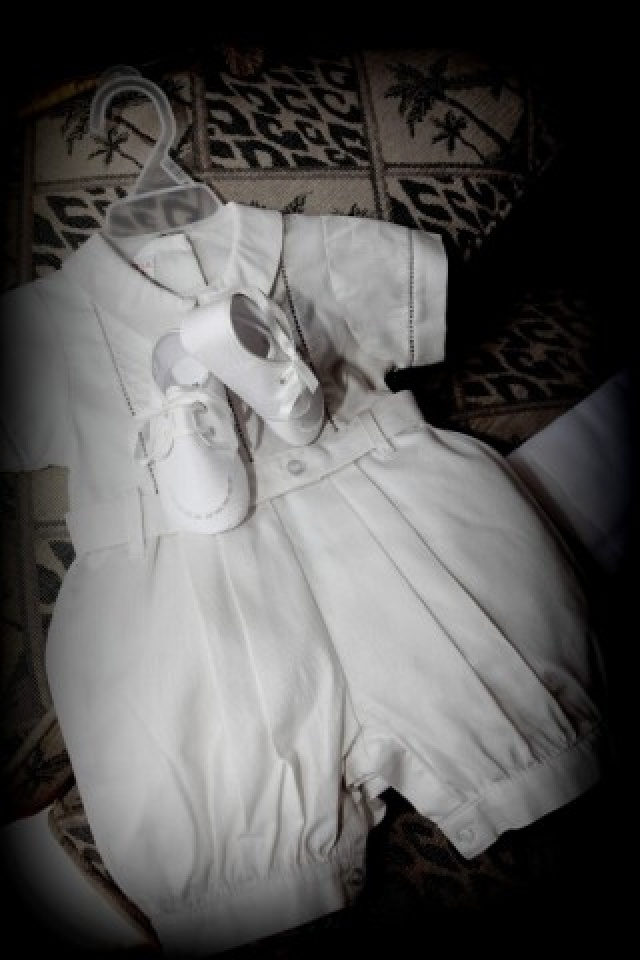 Baptism Romper and Shoes