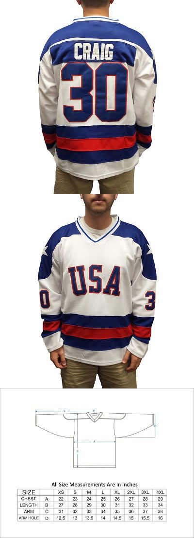 Other Hockey Clothing and Gear 165934: Jim Craig #30 Team Usa White Hockey Jersey Miracle On Ice Goalie Goaltender -> BUY IT NOW ONLY: $49.94 on eBay!