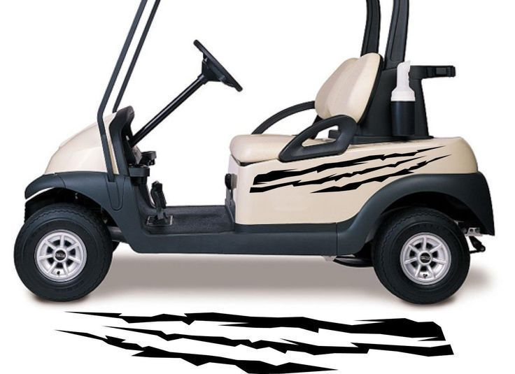 Golf Cart Go Kart Decals Side By Side Stickers Graphics Tribal Flames Stripes Gg30 Golf Carts Racing Stickers Golf Cart Accessories