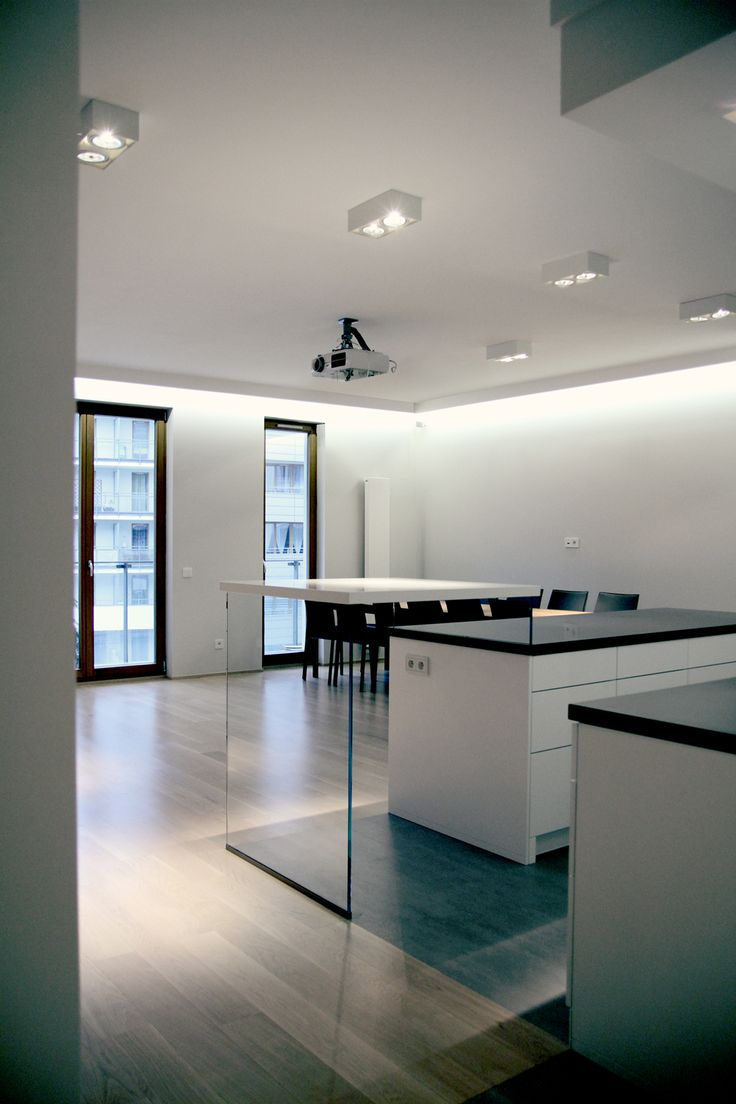 Project Open Kitchen To Living Room. Apartment 120m2, Warsaw, Poland. Www.