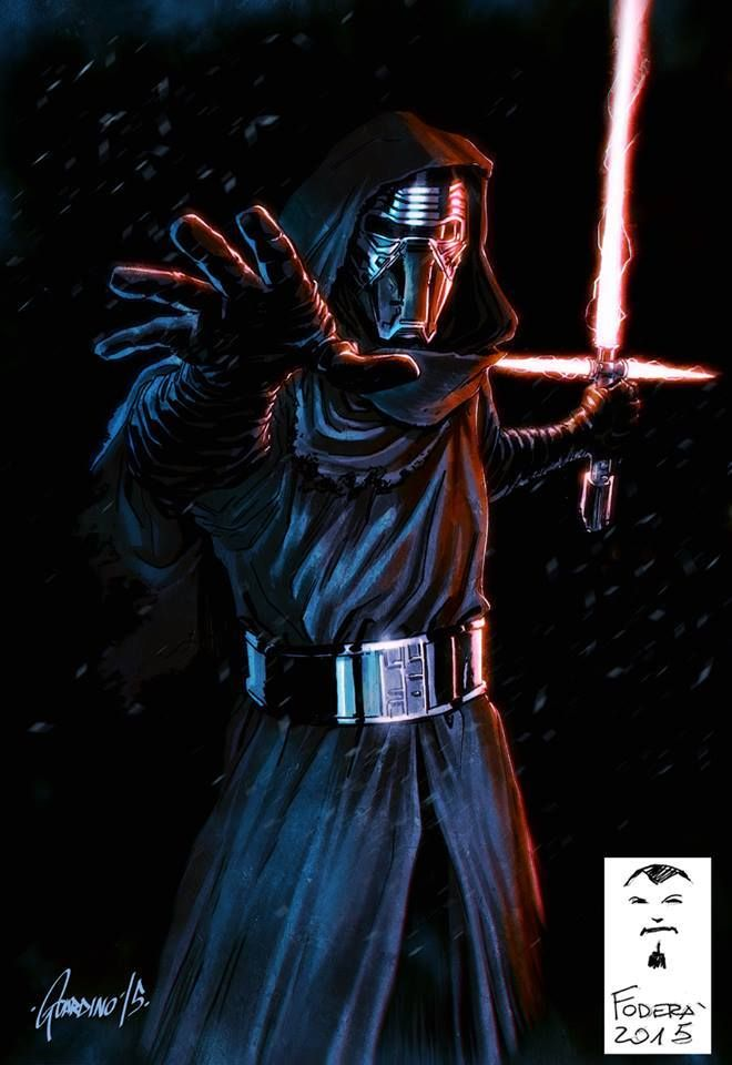 Star Wars - Kylo Ren by Marco Fodera, colours by Andrea Guardino *