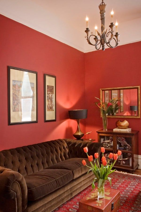 50 Energetic And Colorful Living Room Design Ideas Brown Living Room Decor Living Room Red Brown Couch Living Room