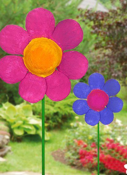 DIY: Bunte Gipsblume für den Frühling basteln