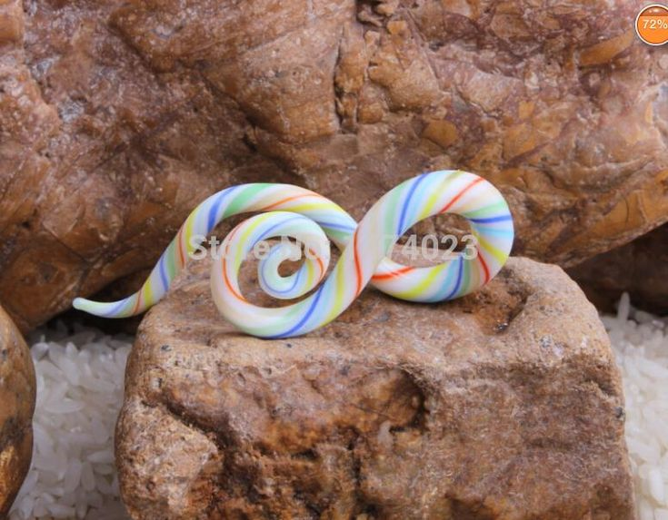 twist pair teal ear piercing gauge Acrylic Spiral Taper Flesh Tunnel Ear Stretcher Expander