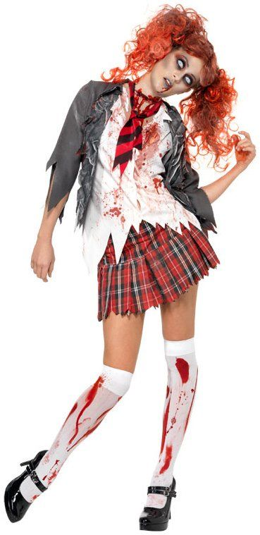 Highschool Horror School Girl Adult Costume