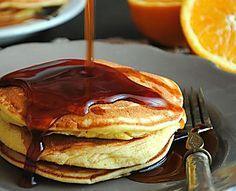 Pancake all'arancia con caramello all'arancia