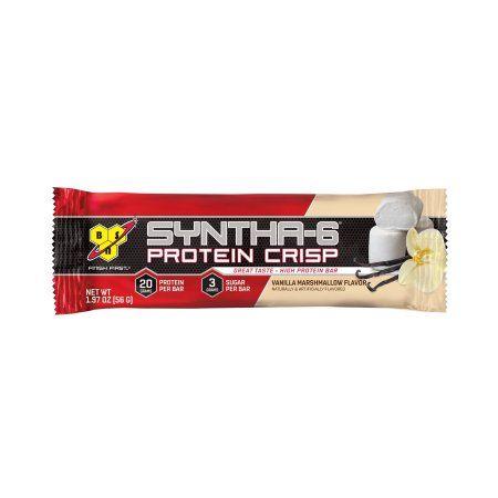 BSN Syntha-6 Protein Crisp, Vanilla Marshmallow, 1.97 Oz, 12 Ct