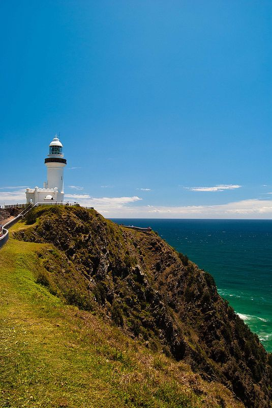 CAPE BYRON LIGHTHOUSE | CAPE BYRON | NEW SOUTH WALES | AUSTRALIA: *The cape is the easternmost point of the mainland of Australia, located about 3 kilometres (1.9 mi) northeast of the town of Byron Bay. It is Australia's most powerful lighthouse, with a light intensity of 2,200,000 cd*